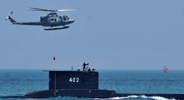 印尼軍方一艘載有53人的潛艇失聯