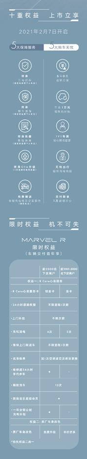MARVEL R正式上市 售价21.98-23.98万元
