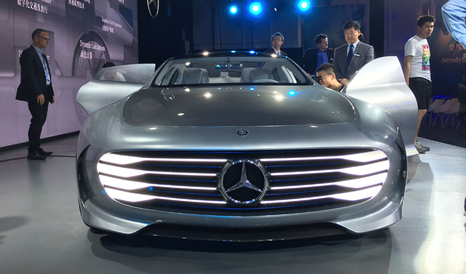 奔馳IAA空氣動力智能概念車