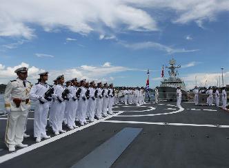 中國海軍遠航訪問編隊抵達菲律賓進行友好訪問