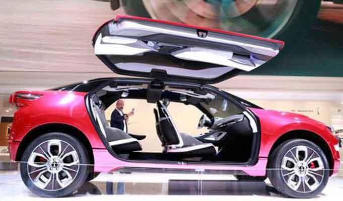 中國新能源車閃亮法蘭克福車展