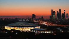 夕阳下卢日尼基体育场美不胜收