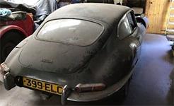 捷豹E-type老爺車塵封35年重現 將接受拍賣