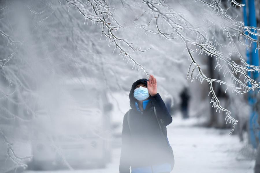 長春遭遇罕見強雨雪大風冰凍天氣