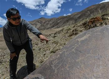 青海玉樹稱多縣發現大批岩畫