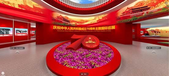 庆祝中华人民共和国成立70周年主题线上国际巡展
