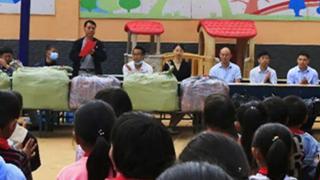 河南省福彩中心向浚縣東蘇村捐贈愛心物資