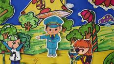 浙江孩童手繪警察爸媽形象 畫筆勾勒純真感情