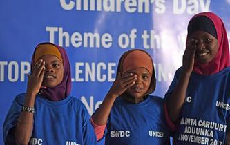 願索馬裏兒童遠離暴力