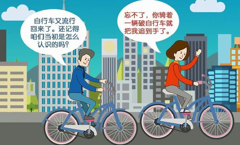 "【画说40年】马路""骑""缘"