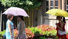 福州繼續發布高溫橙色預警 最高達39℃