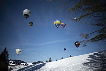 瑞士:放飛熱氣球