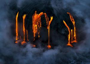 攝影師拍基拉韋厄火山岩漿流入海震撼畫面