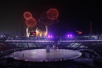 平昌冬奧會開幕式舉行