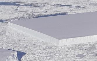 整齊如刀割 南極發現方形冰山