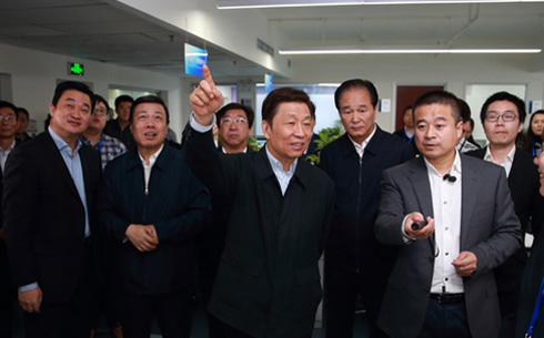 李源潮同志到新華網調研