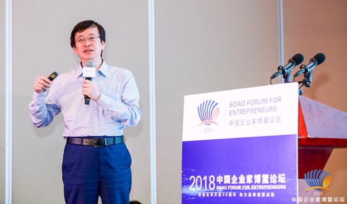 陳少峰在文化産業分論壇上演講