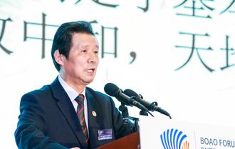 清華大學教授、著名藝術家、文化學者言恭達在做主題演講