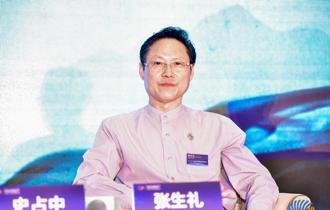 中國民族書畫研究院院長、著名書法家張生禮在文化分論壇現場
