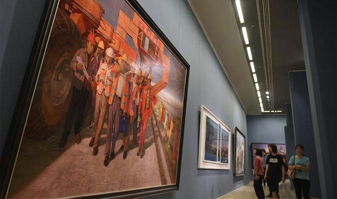 伟大历程 壮丽画卷——庆祝中华人民共和国成立70周年美术作品展在京开幕