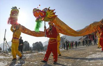 河北遵化:排練民俗迎新春