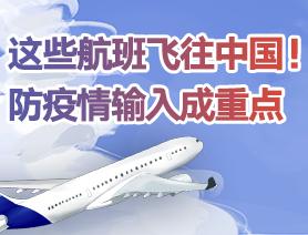 一周来,这些航班飞往中国!防疫情输入成重点