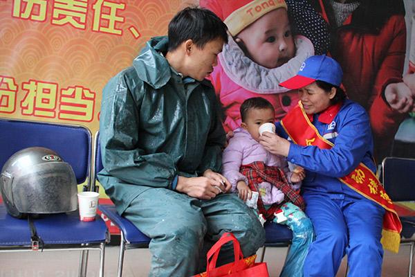 中國石化梧州都連驛站有位熱心大姐