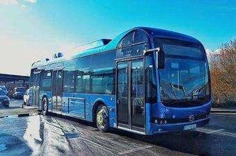 載有智慧電池的中國巴士亮相歐洲