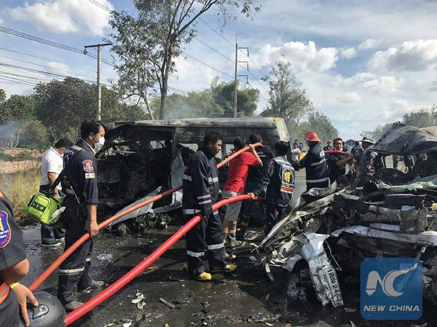 At least 25 dead in road accident in eastern Thailand - Xinhua ...
