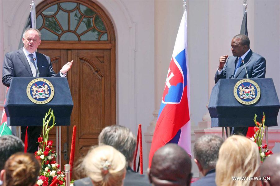 KENYA-NAIROBI-SLOVAKIAN PRESIDENT-VISIT