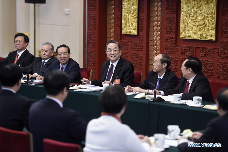 (TWO SESSIONS)CHINA-BEIJING-YU ZHENGSHENG-NPC-PANEL DISCUSSION (CN)