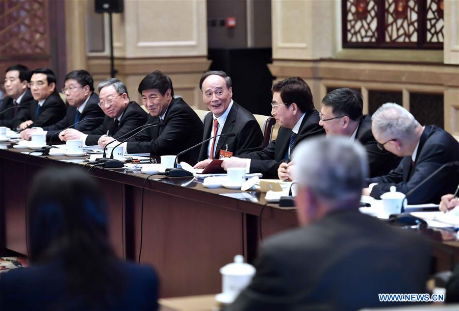 (TWO SESSIONS)CHINA-BEIJING-WANG QISHAN-NPC-PANEL DISCUSSION (CN)