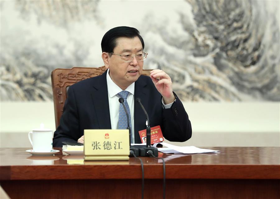 (TWO SESSIONS)CHINA-BEIJING-ZHANG DEJIANG-NPC-MEETING (CN)