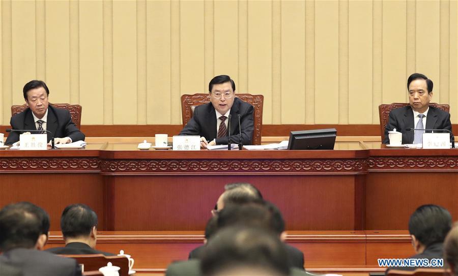 (TWO SESSIONS) CHINA-BEIJING-NPC-PRESIDIUM-MEETING (CN)