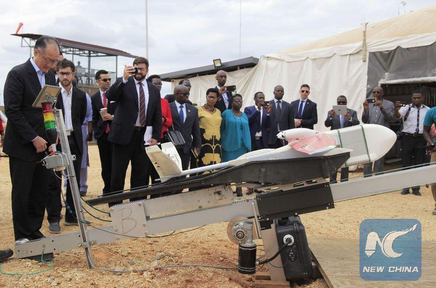 World Bank president hails Rwanda's use of drones in healthcare