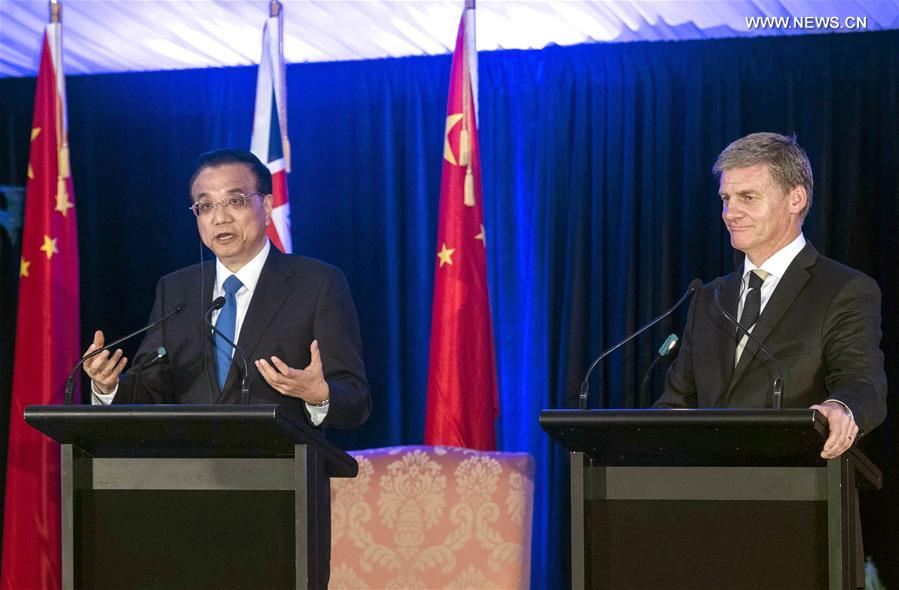 NEW ZEALAND-WELLINGTON-LI KEQIANG-PRESS CONFERENCE