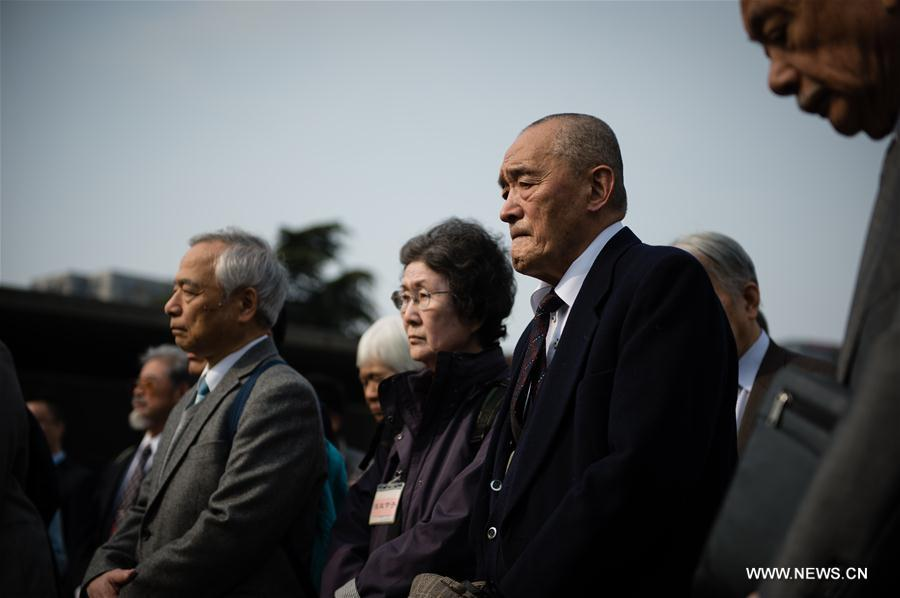 CHINA-NANJING-NANJING MASSACRE VICTIMS-JAPANESE DELEGATION-MOURNING (CN)