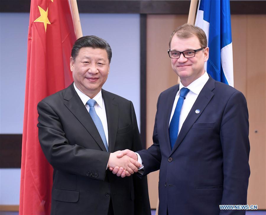FINLAND-CHINA-XI JINPING-PM-MEETING