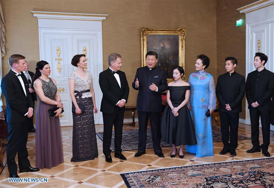 FINLAND-CHINA-XI JINPING-ATHLETES-MEETING