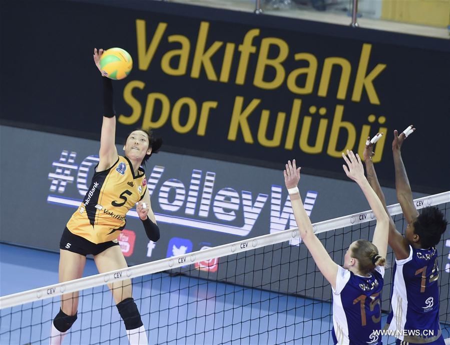 (SP)TURKEY-ISTANBUL-CEV CHAMPIONS LEAGUE-VAKIFBANK VS VOLERO ZURICH