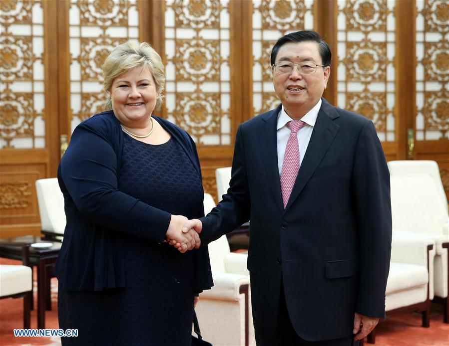 CHINA-BEIJING-ZHANG DEJIANG-NORWAY-PM-MEETING (CN)