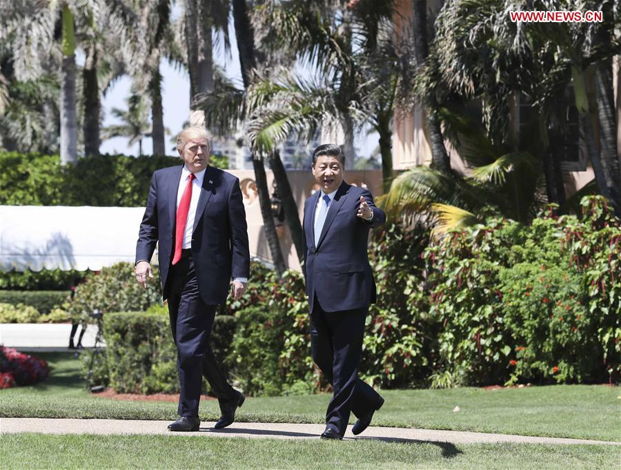 U.S.-CHINA-XI JINPING-TRUMP-TALKS
