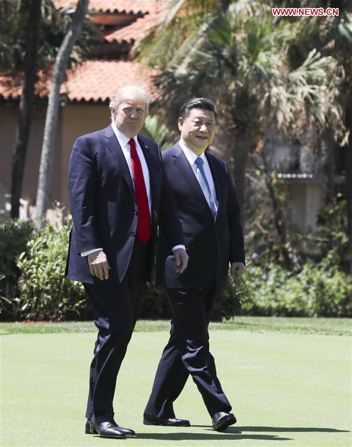 U.S.-CHINA-XI JINPING-TRUMP-TALKS
