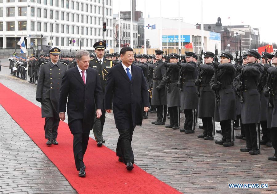 FINLAND-CHINA-XI JINPING-NIINISTO-TALKS