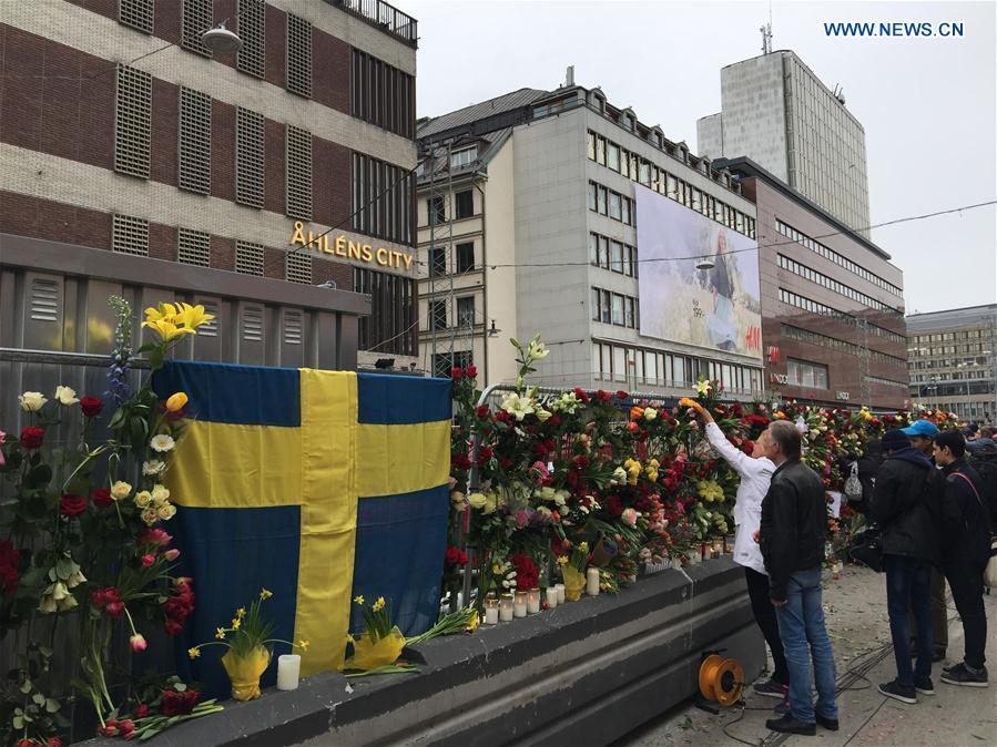 SWEDEN-STOCKHOLM-TRUCK ATTACK-TRIBUTE