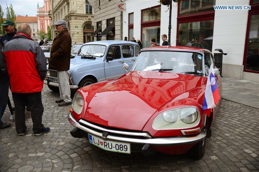 Classic car show held in Ljubljana, Slovenia - Xinhua | English.news.cn