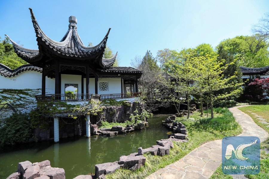 photo taken on april 28 2017 shows the scenery of the chinese scholars garden at the snug harbor on staten island new york the united states - Staten Island Botanical Garden