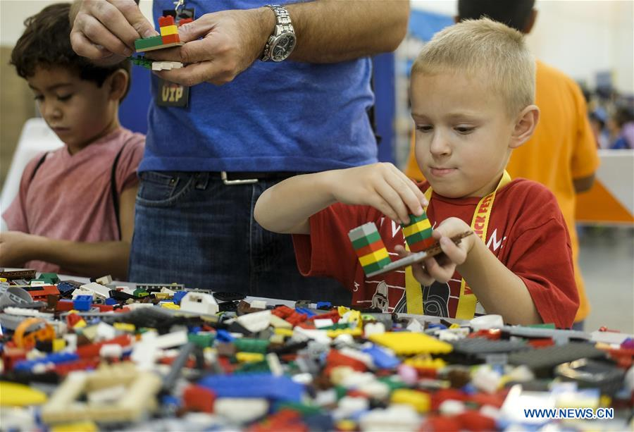 Children attend Brick Fest Live LEGO Fan Experience in Pasadena ...