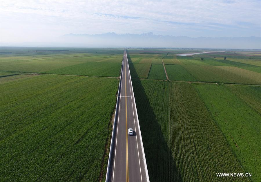 new highway along yellow river opens to traffic xinhua english