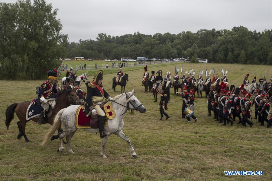 Reenactment of 1812 Battle of Borodino held in Russia - Xinhua
